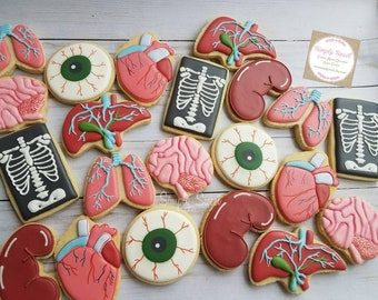 Organ/body sugar cookies