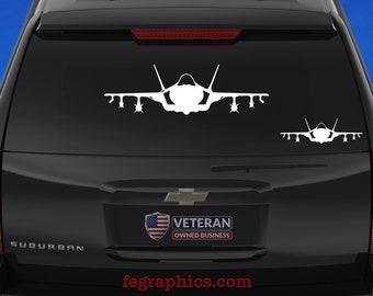 F-35A [Front Loaded] F-35A Decal, F-35 Decal, F-35 Sticker, F-35 Lightning II, F-35A CTOL, F35A Decal, F35 Decal