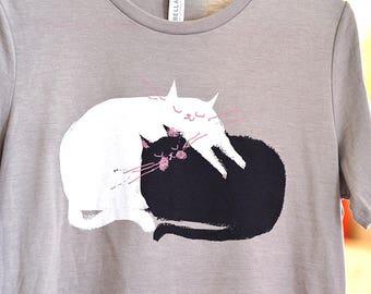 Cat Shirt - Love Pile - Cat Mom - Women's Shirt - Mother's Day Gift - Cat Lover