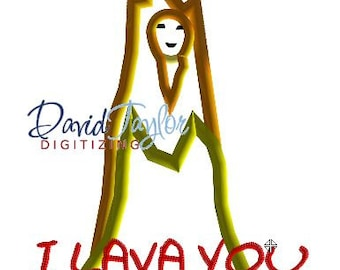 I Lava You - Lady Volcano - 4x4, 5x7, 6x10 in 7 formats - Applique - Instant Download - David Taylor Digitizing