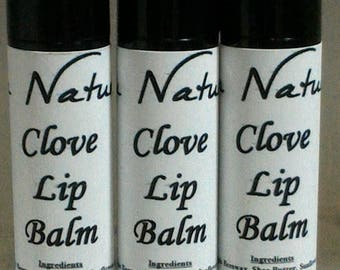 Clove Lip Balm   .15 ounce  -   Tasty  -   Clove  -  Sweet And Spicy  -  Fall Scent   -  Seasonal Flavor  -  Organic