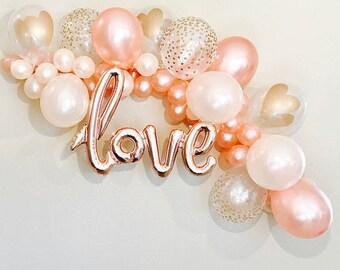 Balloon Garland, DIY Balloon Garland, Balloon Arch,Balloon Garland Kit, Rose Gold Bridal Shower, Rose Gold Balloons, Rose Gold Bachelorette,