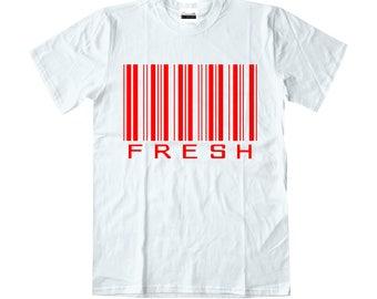 a75dd4cc1e02db ... Concrete Luxury Mens Fresh Barcode - White Red T-shirt To Match Retro  Air Jordan ...