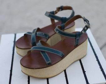 Vintage Prada Platform Sandals