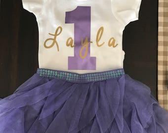 First birthday shirt onesie girls toddler number 1