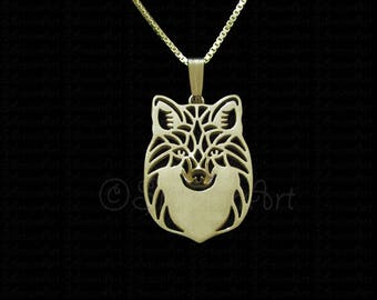 Red Fox - Gold pendant and necklace.