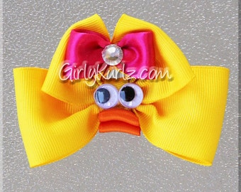 YELLOW Ducky Hair Bow, Easter Hair Bow, Chick Hair Clip, Chick Hair Bow, Duck Hair Bow, Easter Bow, Animal Hair Bow