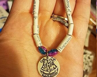 Harry Potter book bracelet