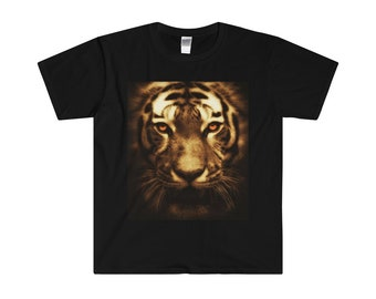 Tiger MenS Fitted Short Sleeve Tee
