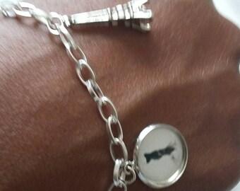 Fancy silver bracelet