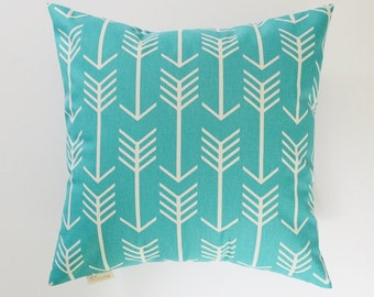 Pillow Cover Decorative Pillows Arrow Pillow Turquoise Pillow 8 Sizes Available Cushion covers
