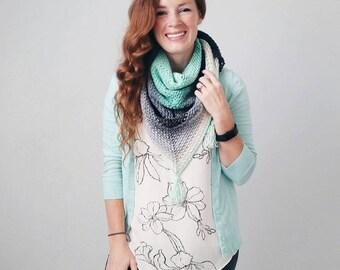 Crochet Triangle Scarf, Mandala yarn triangle scarf, crochet triangle scarf pattern, crochet pattern, Triangle scarf crochet pattern