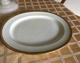 Large cauldon china england serving platter signed