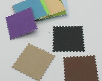 Square zigzag : Die-cut cutting cardstock paper embellishment scrapbooking