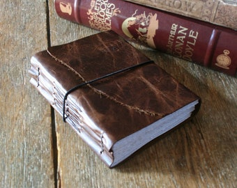 """Leather Journal . """"Either write something worth reading or do something worth writing"""" - Benjamin Franklin . handmade handbound (320 pgs)"""