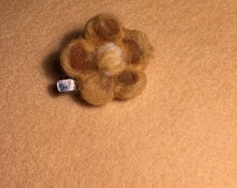 Needle felted brooch