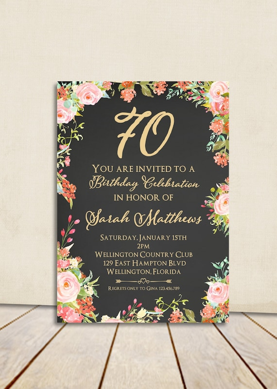 Items Similar To 80th Birthday Invitation