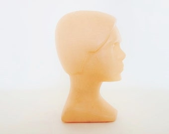 Mid Century Mannequin Head Made of Plastic from the Former East Germany Ostalgie