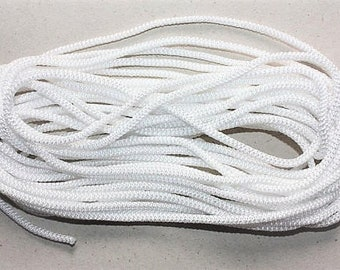 4 mm Braided Cord 7 Yards = 6.40 Meters POLYESTER RARE and Elegant Rope Decorative Rope Macrame Rope Macrame Cord Polyester Yarn