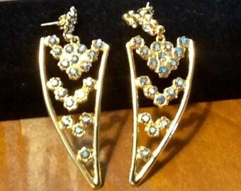 Blue crystal  drop earrings Spain
