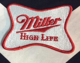 Vintage Patch - Miller Logo - Rectangle Shape - Large