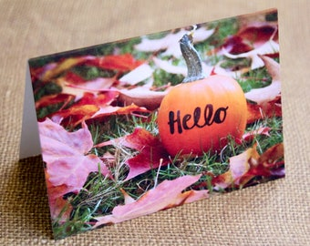 Pumpkin Hello Notecard