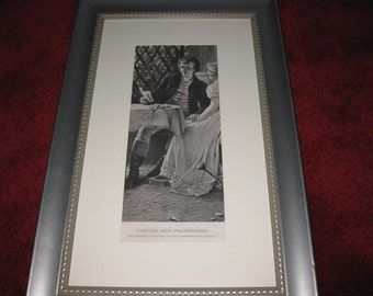 "GOETHE AND FRIEDERIKE Framed Photogravure 10 1/2"" x 16 1/2"""
