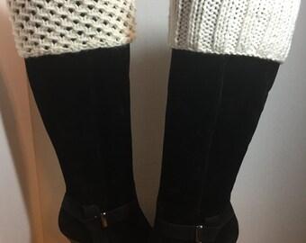 Knit Boot Cuff, Boot Topper, Leg Warmers, Womens Accessories, Boot Socks, Womens Boot Socks
