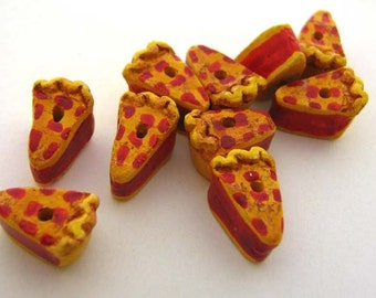 20 Tiny Cherry Pie Beads - CB744