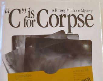"Vintage Sue Grafton Novel ""C is for Corpse"" Mystery 1st Holt Rineshart Winston Novel Edition Best Seller Mystery Book HC w/ DJ  1986"
