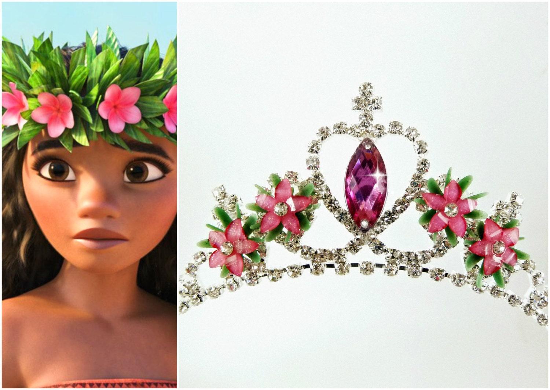 Moana crown moana flower tiara flower headband moana zoom izmirmasajfo Gallery
