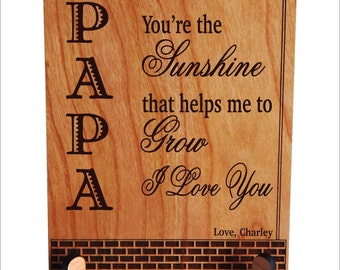 Personalized Papa Gift - Gifts for Grandpa - Grandfather Personalized Gift - Papa Birthday Gift - Fathers Day Plaque, PGP002