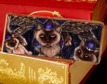 Flying Monkey Cats Bookmark Wizard of Oz Cat Art Bookmark