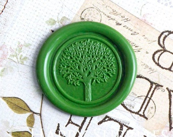 Buy 1 Get 1 Free - 1pcs Tree Gold Plated Wax Seal Stamp (WS240)