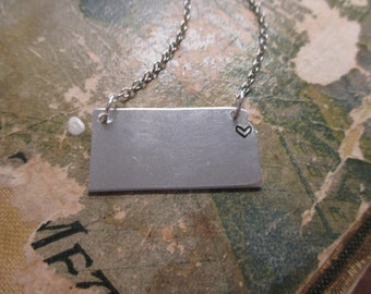 The Patricia Necklace - Kansas Love Pendant Necklace or Key Chain