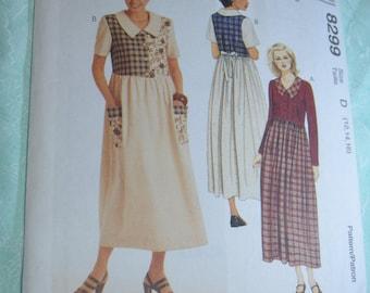 McCalls 8299 Misses Dress Sewing Pattern - UNCUT - Size  12 14 16