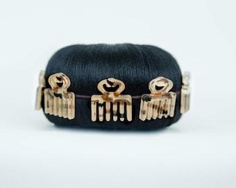 Duafe hair bun wrap