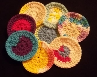 Facial scrubbies, cotton scrubbies, makeup remover, cotton rounds, washcloth, facial scrubby, ecofriendly, washcloth