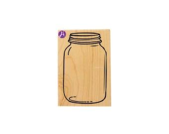 Mason Jar Stamp - LARGE - Rubber Stamp - for crafting / diy /invitations / scrapbooking