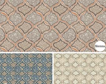 Custom Drapery, Custom Curtains, Ethnic Design, Single Pleat, Made To Order, *Seychelles*