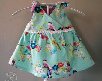 Bee Sweet Dress - Newborn - Aqua