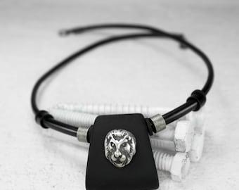 Men Necklace - Men Choker Necklace - Men Leather Necklace - Men Jewelry - Men Gift - Boyfriend Gift - Husband Gift - Gift For Dad - Male