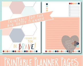HAPPY PLANNER Printable Filler Pages | Planner Refills / BIG Inserts - 8.5x11 | Starfish | Create 365 | Me & My Big Ideas | mambi |Undated