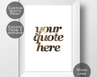 Custom Quote Print - Personalized Quote - Custom Typography - Custom Wall Art - Personalized Print - Custom Wall Decor - Custom Quote Art