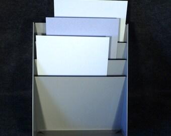 Metal 3 Pocket File Folder Organizer - Paper Forms - Magazines - Vintage Office