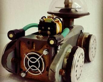 Scifi vintage style vehicle galactic rover art sculpture