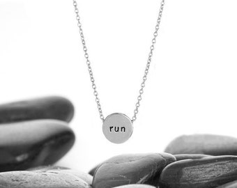 Run Sliding Charm Necklace in Recycled Sterling Silver