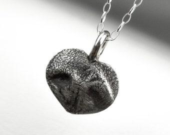 Personalized custom sterling silver jewelry by rockmyworldinc dog nose heart necklace custom personalized sterling silver pendant aloadofball Images
