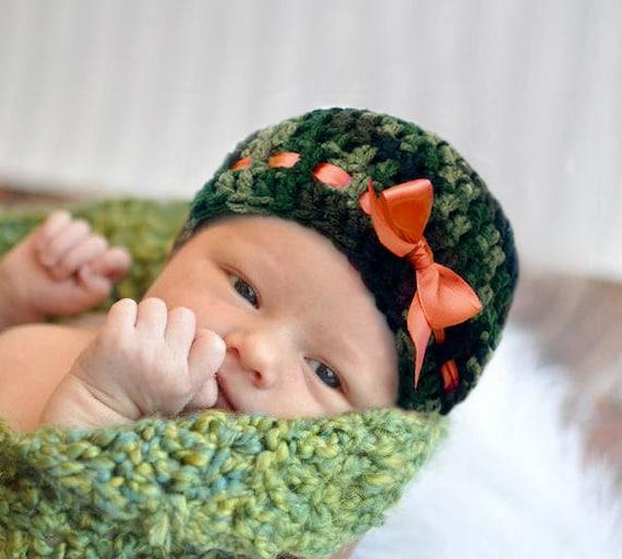 BABY Mädchen CAMO Hut Baby Camo Hut Hut häkeln Camo