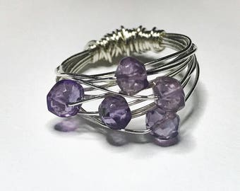 Amethyst Bird's Nest Ring